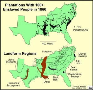 Figure 4W Plantations and Landforms